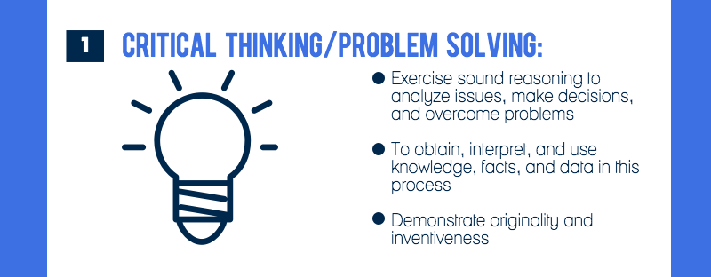 Competency #1 is critical thinking and problem solving (image 2 of 9)