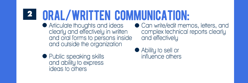 Competency #2 is oral/written communication (image 3 of 9)