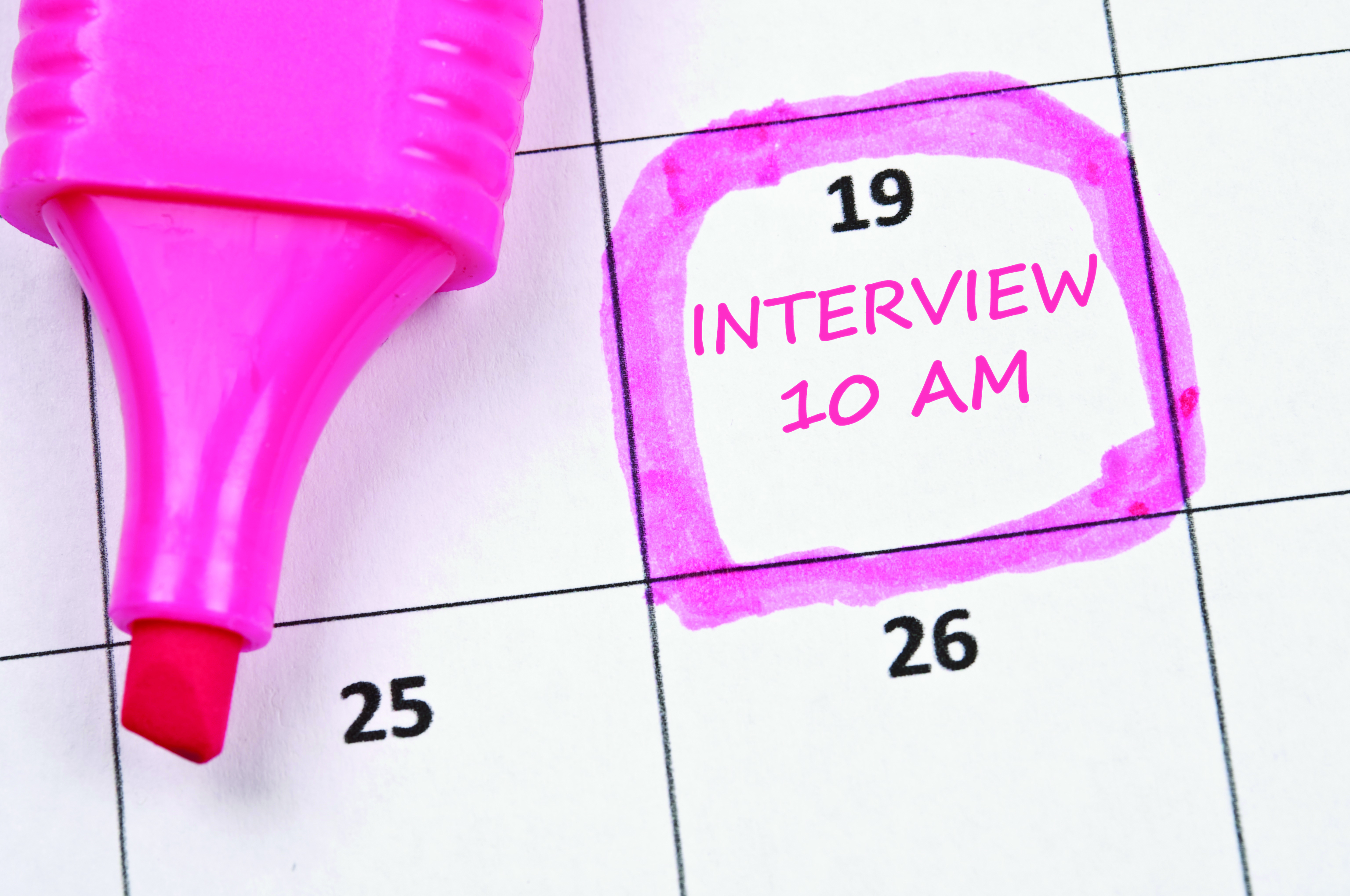 tips for effective interviewing career center an image of a calendar a highlighted date