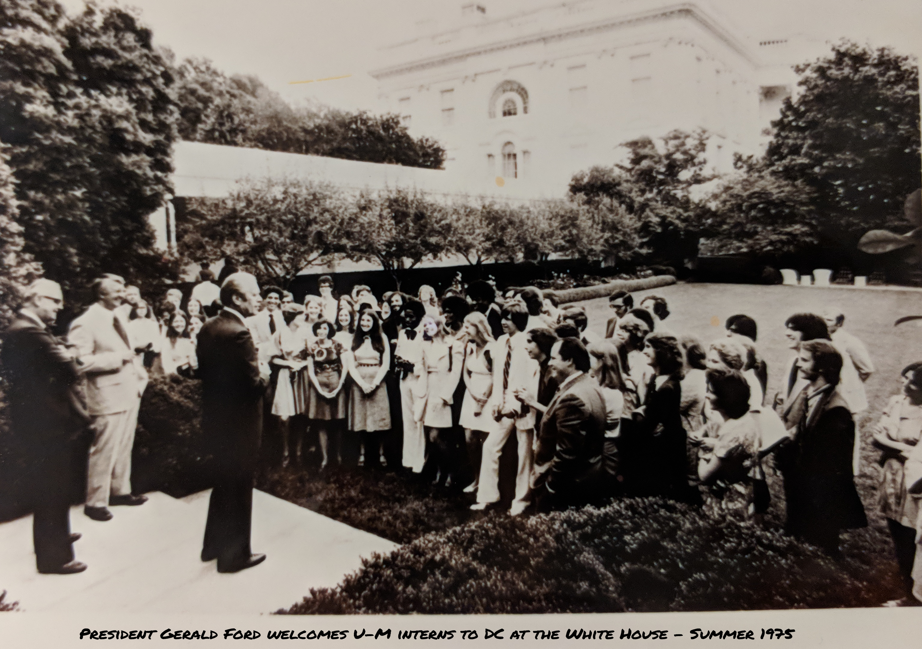 PSIP students at the White House with President Gerald Ford - 1975