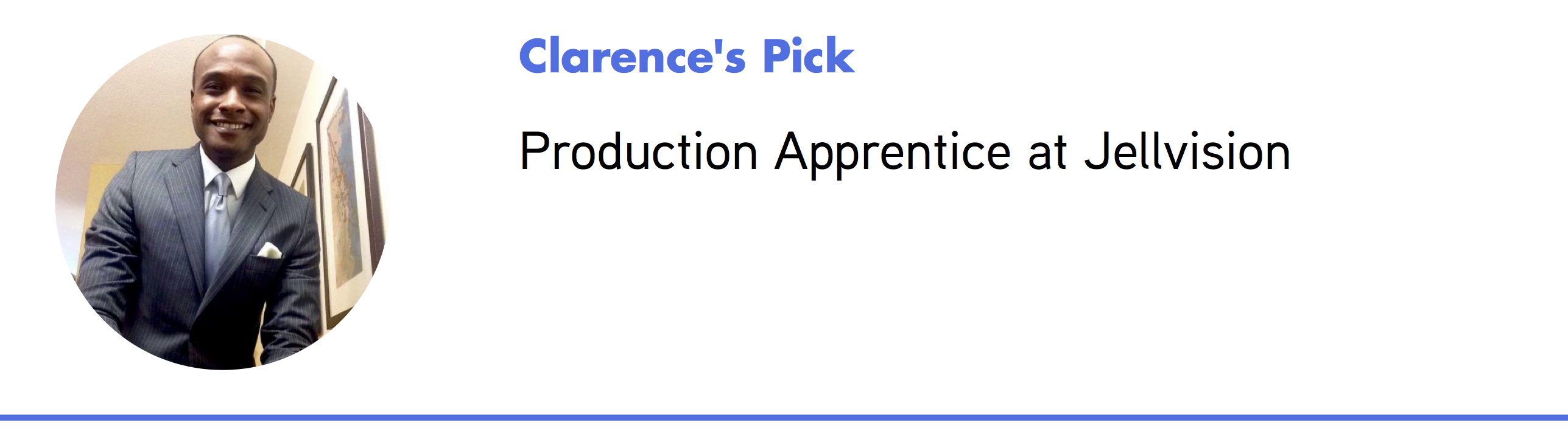 Clarence's Staff Pick