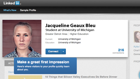 A fictitious LinkedIn profile that highlights the importance of making a good first impression