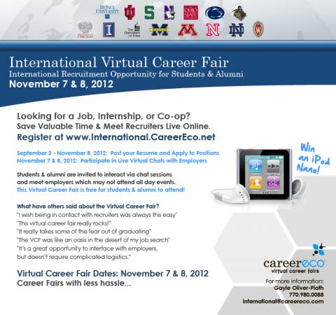 Your chance to attend the 2012 hirebig10 international virtual career