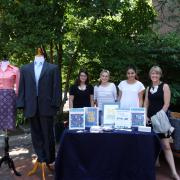 People at the University Career Center's pop-up event on the diag